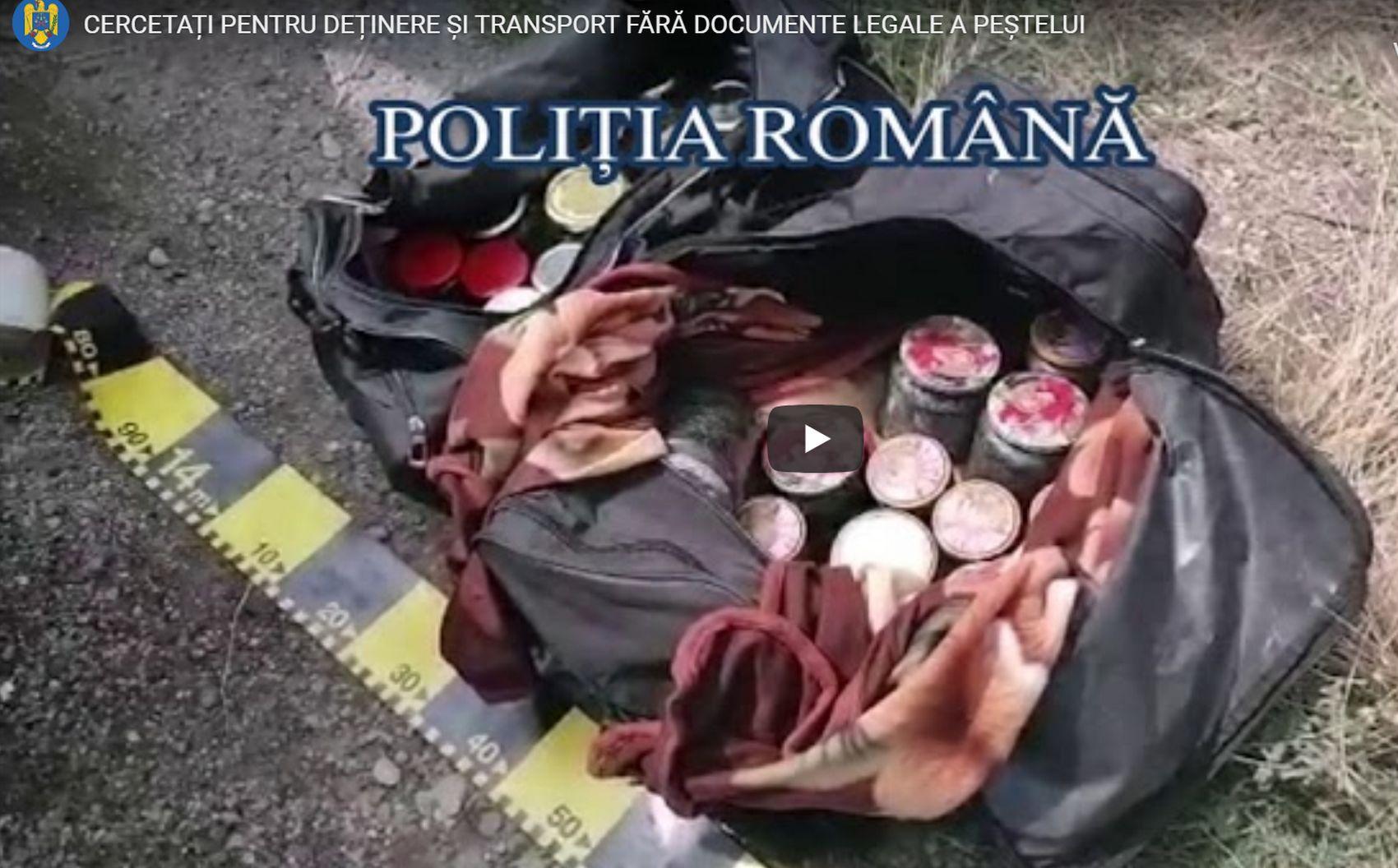 Peste 23 kg de caviar în valoare de 50.000 de euro, confiscate de Serviciul de Poliție Delta Dunării